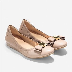 Cole Haan Tali Bow Ballet Flat Maple Sugar Nude